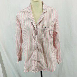 Victoria Secret Pink White Stripe Sleep Shirt